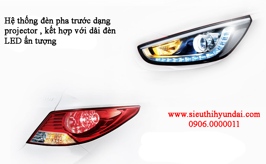 Hệ thống đèn cải tiến của Hyundai Accent 2013